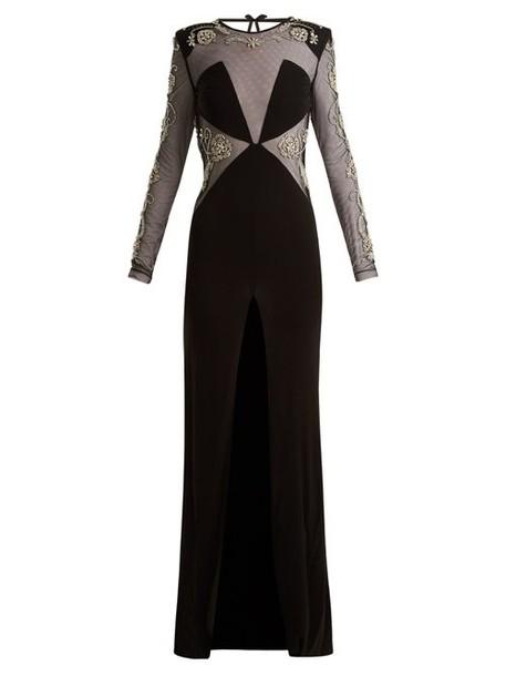 Dundas - Embellished Open Back Gown - Womens - Black
