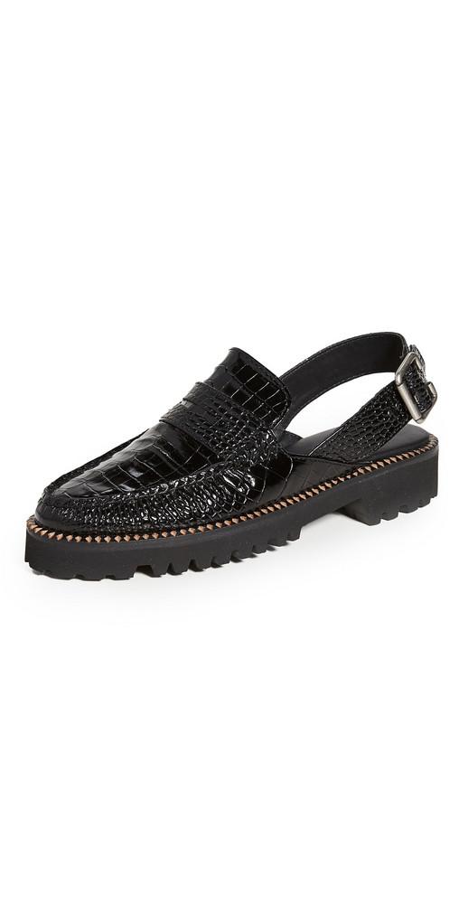 Freda Salvador Juana Slingback Loafers in black