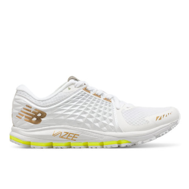 New Balance Womens Vazee 2090 Glory Speed Shoes - White/Gold/Green (W2090TT)