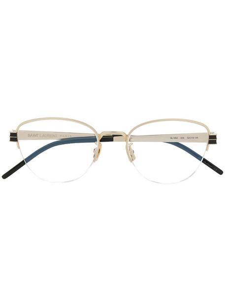 Saint Laurent Eyewear oval sunglasses in gold