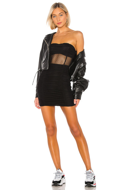 h:ours Foxwood Mini Dress in black