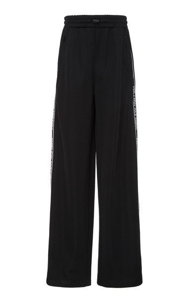 Red Valentino Jersey Space Notes Pants in black
