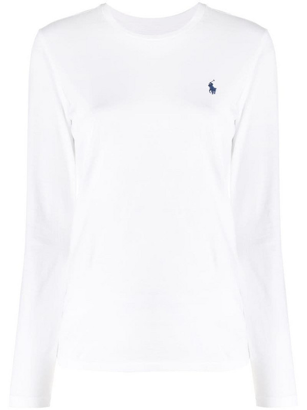 Polo Ralph Lauren embroidered logo T-shirt in white