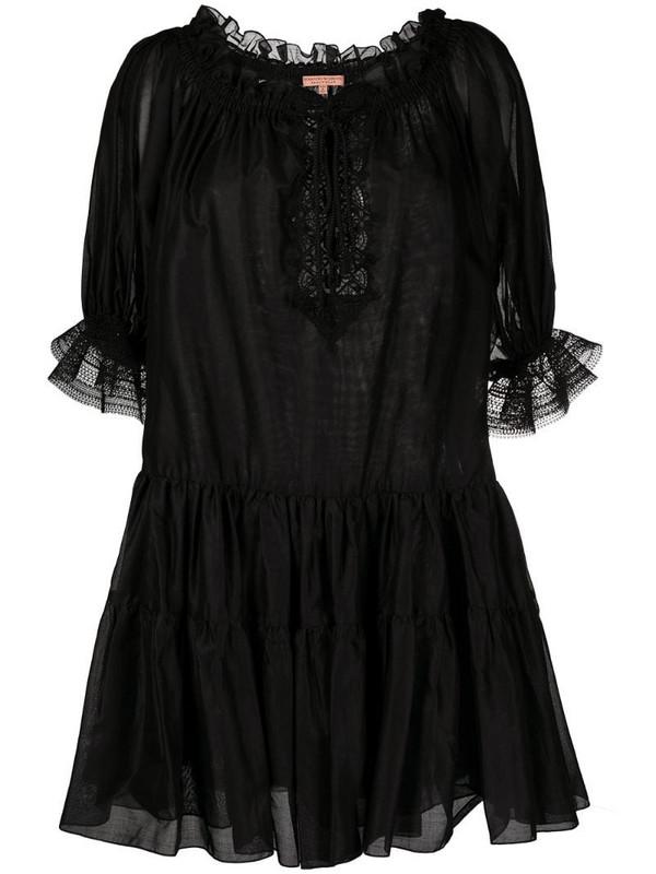 Ermanno Scervino off-shoulder flared dress in black
