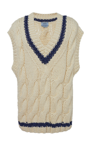 Prada Cable Knit Sweater Vest in multi