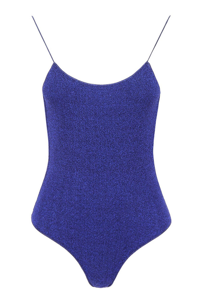 Oseree Lurex Swimsuit in blue