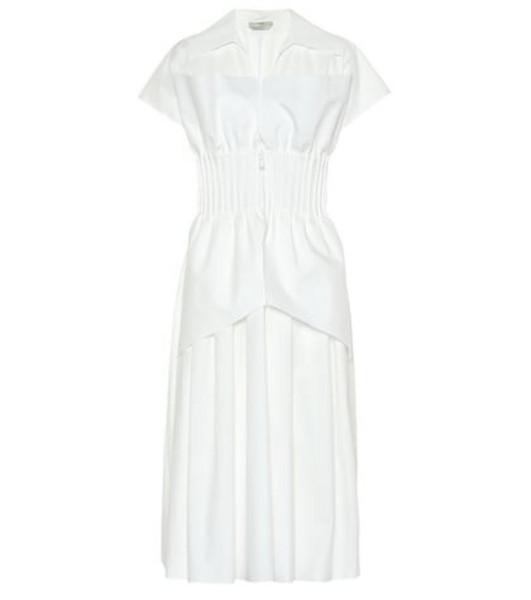 Fendi Cotton taffeta dress in white