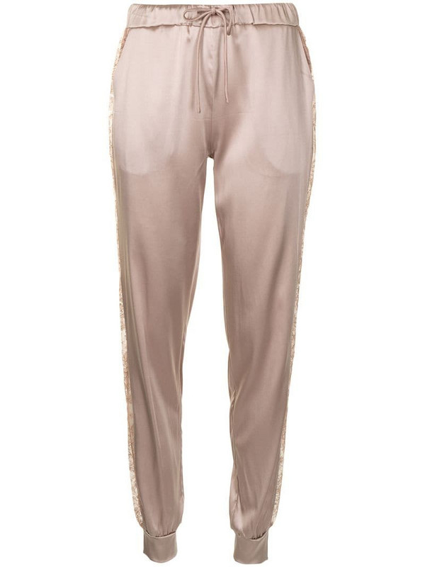 Carine Gilson drawstring silk trousers in pink