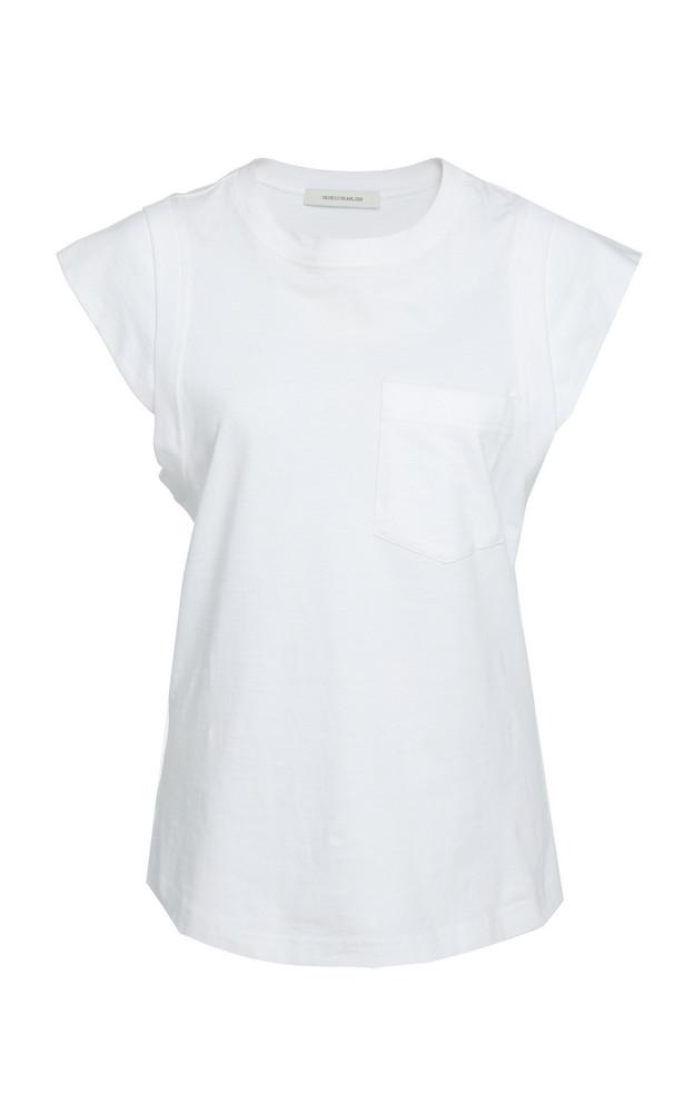 Cédric Charlier Pocket Cotton T-Shirt in white
