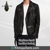 coat,tv series,arrow,stephen amell,leather jacket,jacket,style,outfit,menswear,mens  fashion,men's outfit,lifestyle