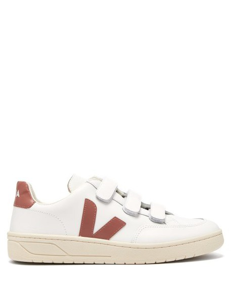 Veja - V 12 Bastille Low Top Leather Trainers - Womens - Pink White