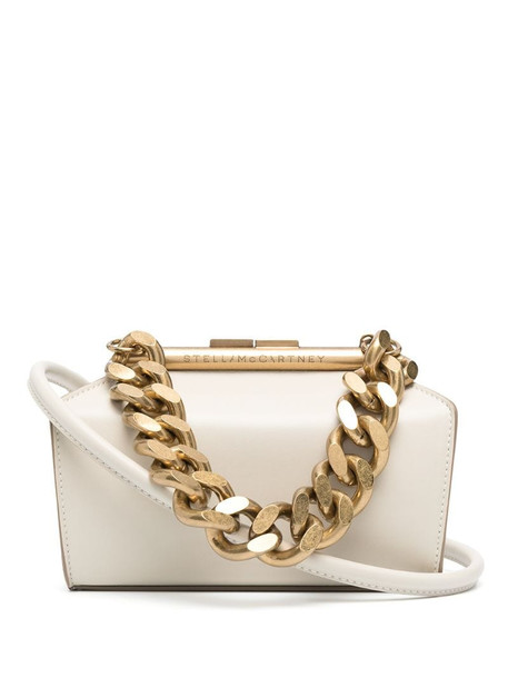 Stella McCartney small chunky chain bag in neutrals