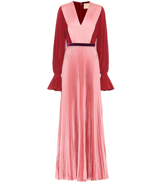 Roksanda Silk-crêpe dress in pink