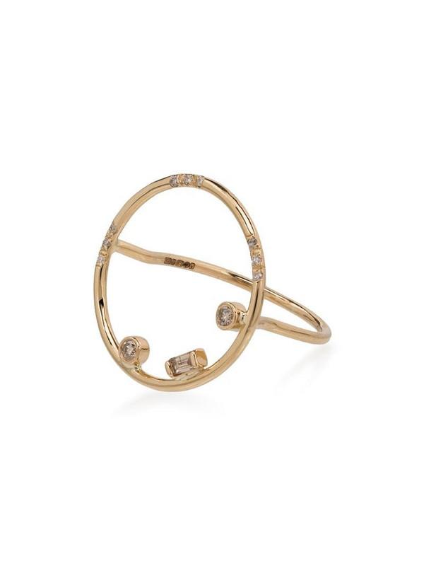 Xiao Wang 14kt gold Gravity circle diamond ring