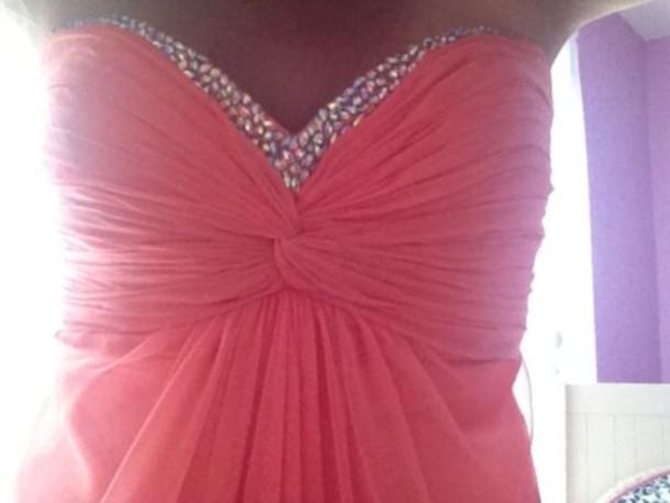 dress pink glitter crystal diamonds shirt top