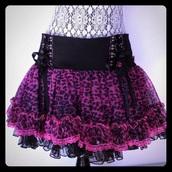 skirt,tripp nyc,tripp,goth,emo,dark,gothic dress,gothic skirt,black,leopard print,pink,alternative