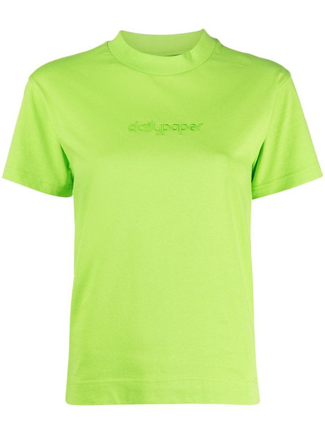 Daily Paper logo print T-shirt in green