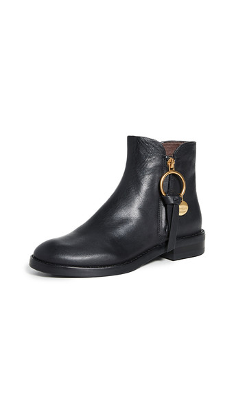 See by Chloe Louise Flat Boots in nero