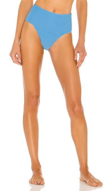 L*SPACE Desi Classic Bikini Bottom in Blue