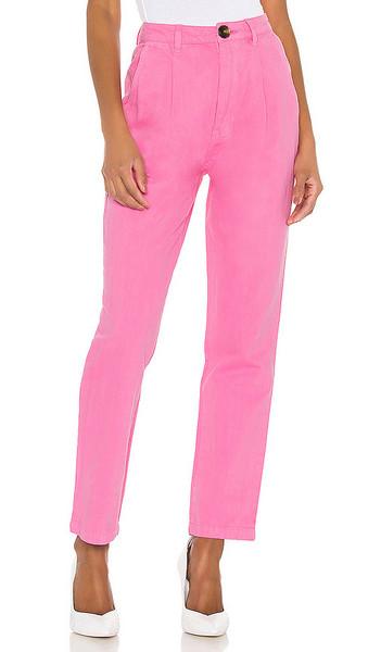 ROLLA'S Horizon Linen Pant in pink