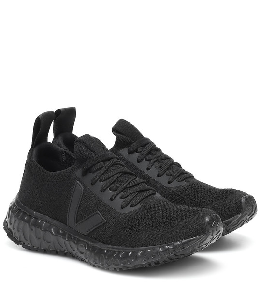 Rick Owens x Veja knit sneakers in black