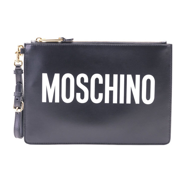 Moschino Leater Pouch in black