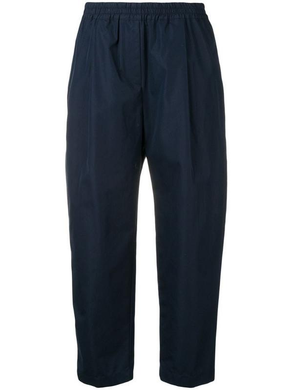 Aspesi cropped trousers in blue