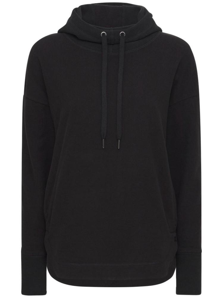 SWEATY BETTY Escape Luxury Fleece Hoodie in black