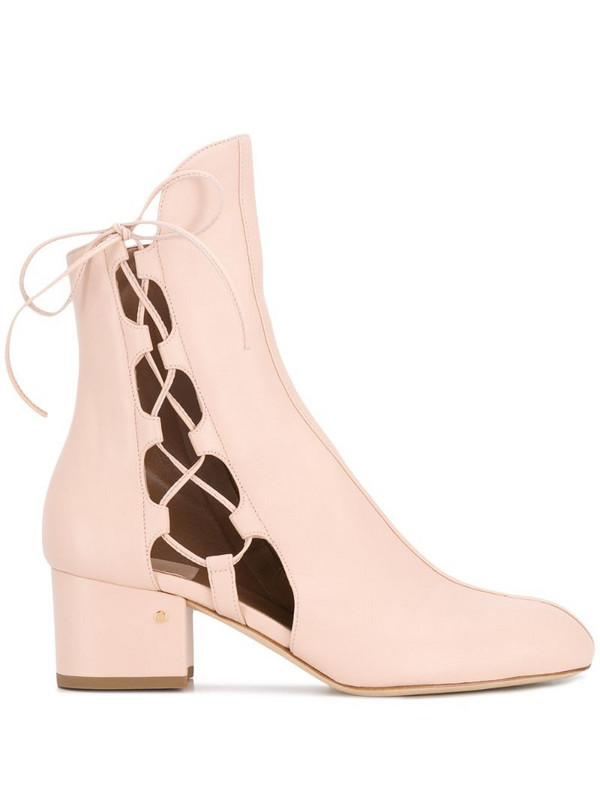Laurence Dacade cut-out detail ankle boots in neutrals