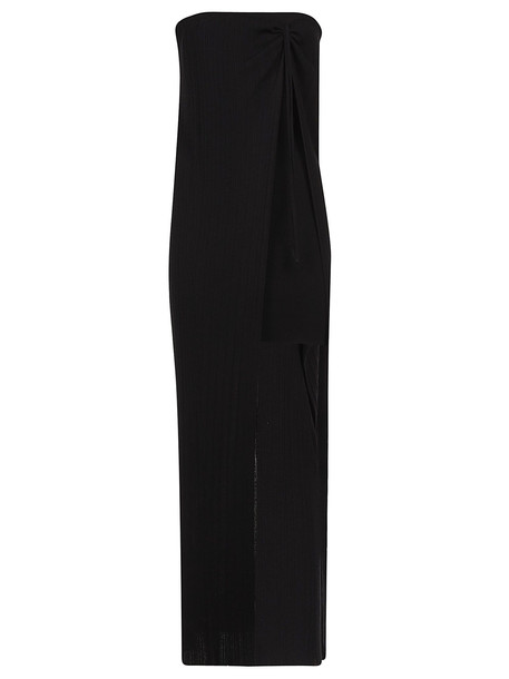 Jacquemus Cut-out Detail Knitted Dress in black
