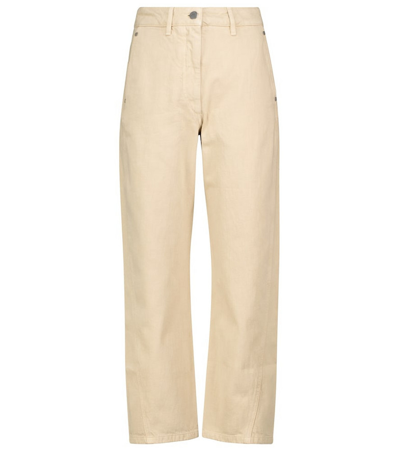 Lemaire High-rise tapered jeans in beige