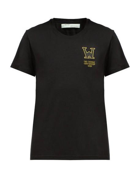 Off-white - Black Betty Print Cotton T Shirt - Womens - Black