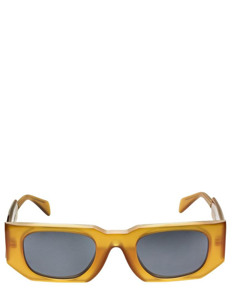 KUBORAUM BERLIN U8 Squared Shiny Acetate Sunglasses in grey / orange