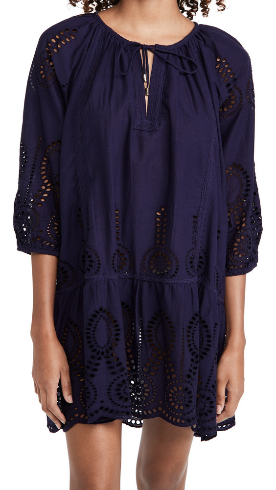 Melissa Odabash Ashley Cover Up Caftan in navy