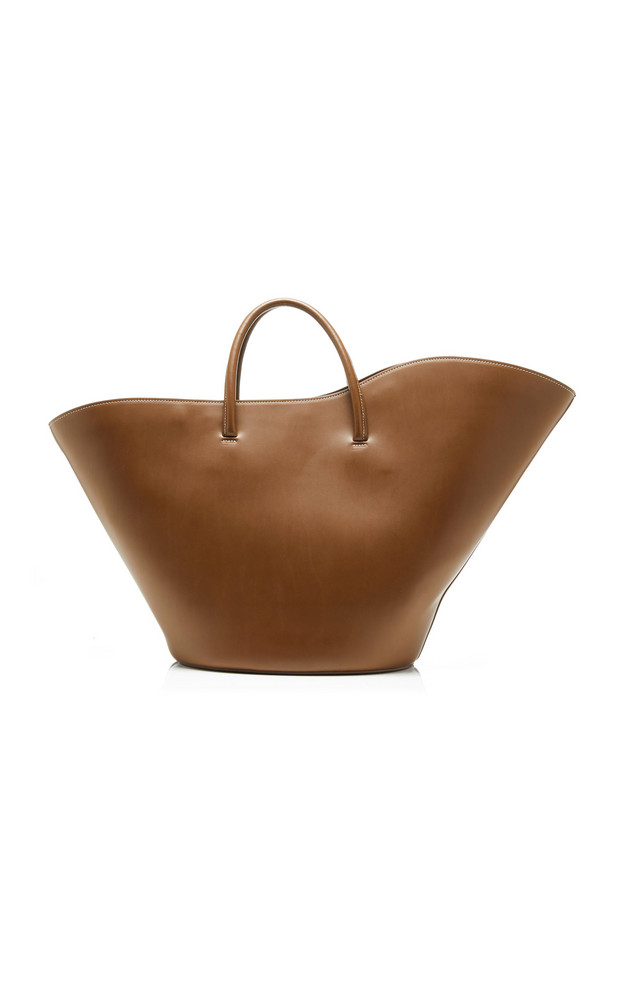 Little Liffner Tulip Leather Tote in brown