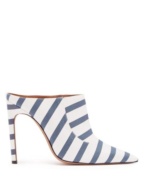 Altuzarra - Davidson Striped Cotton Mules - Womens - Navy Stripe