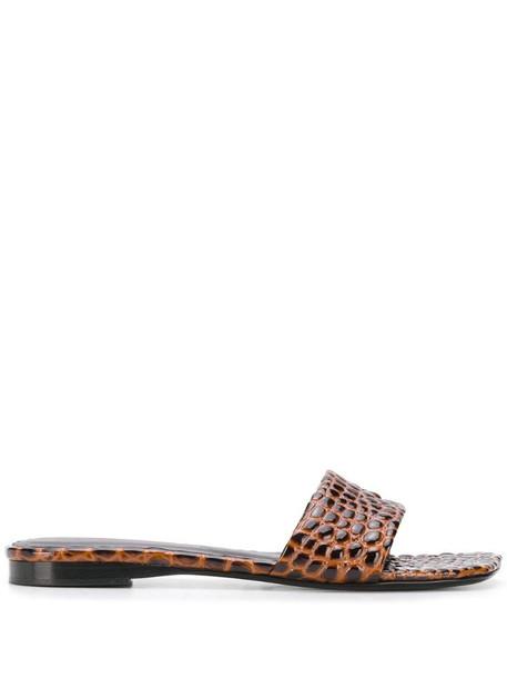 Simon Miller Hammer embossed sandals in brown