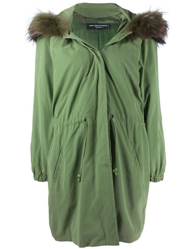 Jean Louis Scherrer Pre-Owned 1990s hooded parka in green