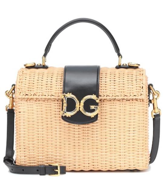 Dolce & Gabbana Wicker shoulder bag in neutrals