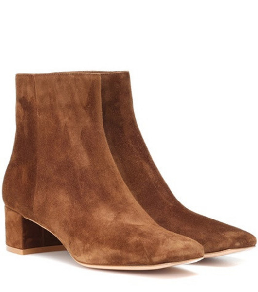 Gianvito Rossi Trish suede ankle boots in brown