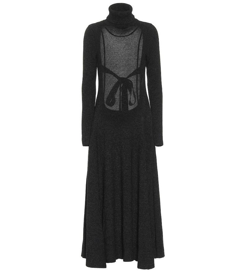 Alanui Turtleneck maxi dress in grey