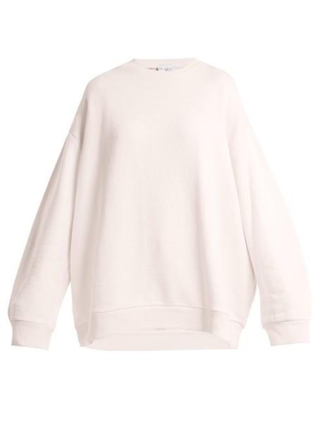 Raey - Crew Neck Japanese Jersey Sweatshirt - Womens - Light Pink