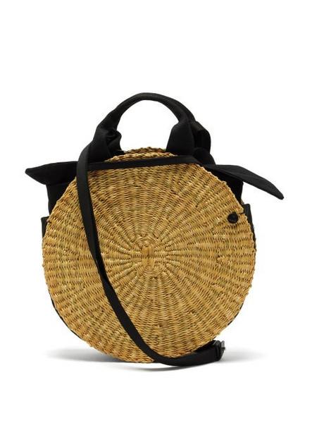 Muuñ Muuñ - Rosie Circular Woven Elephant Grass Bag - Womens - Black Multi
