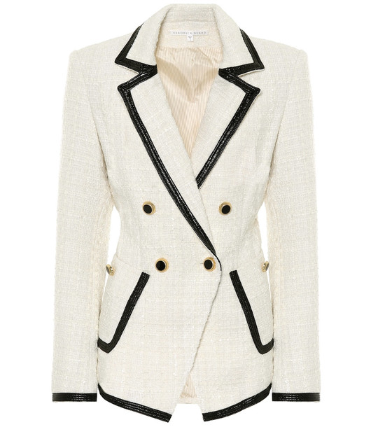 Veronica Beard Cato boulce tweed blazer in white