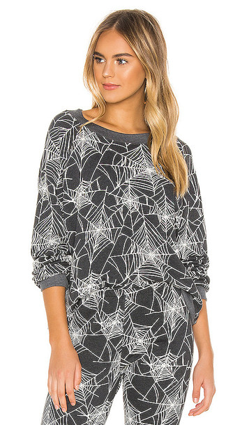 Wildfox Couture Black Widow Sommers Sweatshirt in Gray