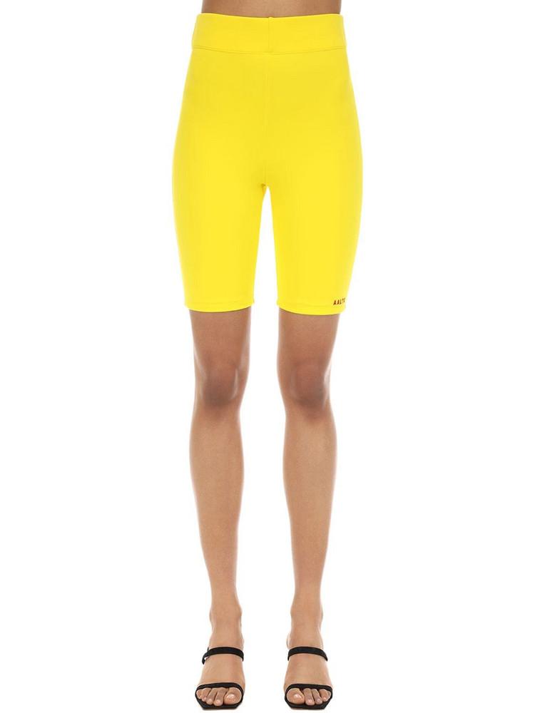 AALTO Stretch Jersey Biker Shorts in yellow