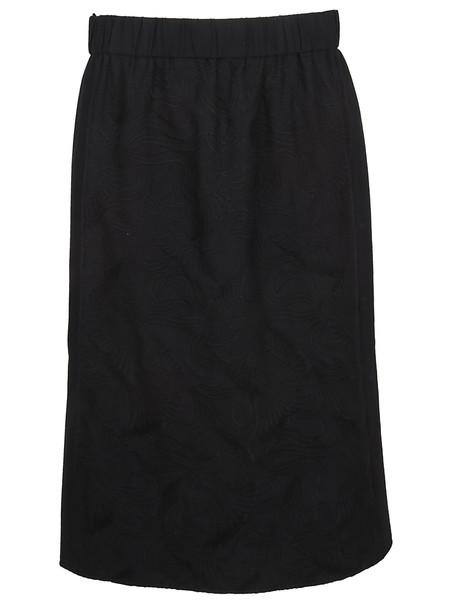 Kenzo Flying Phoenix Midi Skirt in black