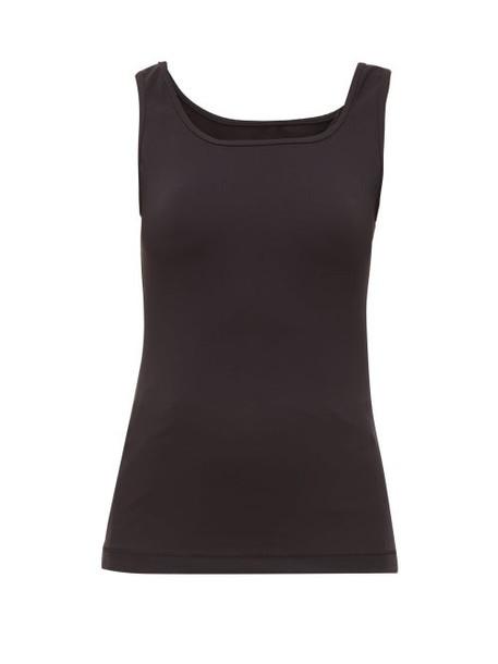 WARDROBE.NYC Wardrobe. nyc - Scoop Neck Technical Jersey Tank Top - Womens - Black