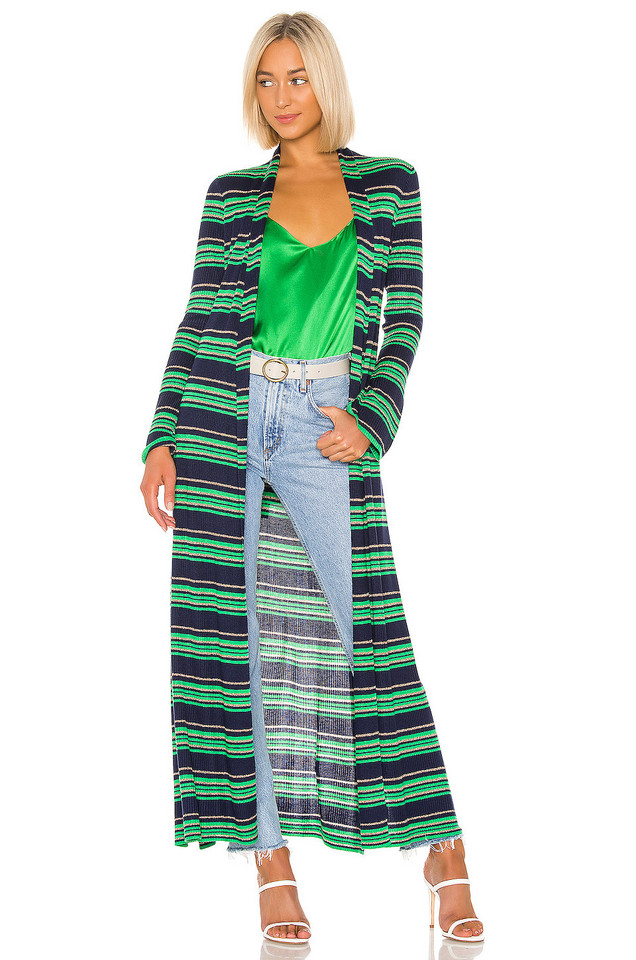 L'AGENCE Marija Duster Cardigan in green