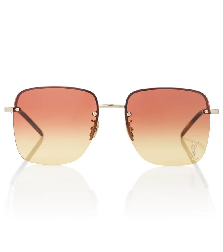 Saint Laurent Monogram SL 312 aviator sunglasses in gold